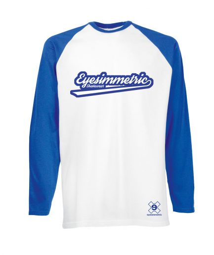 camiseta surf skate eyesimmetric baseball-azul