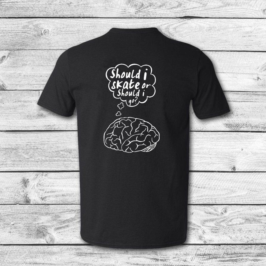 camiseta surf skate eyesimmetric Brain, negra - back