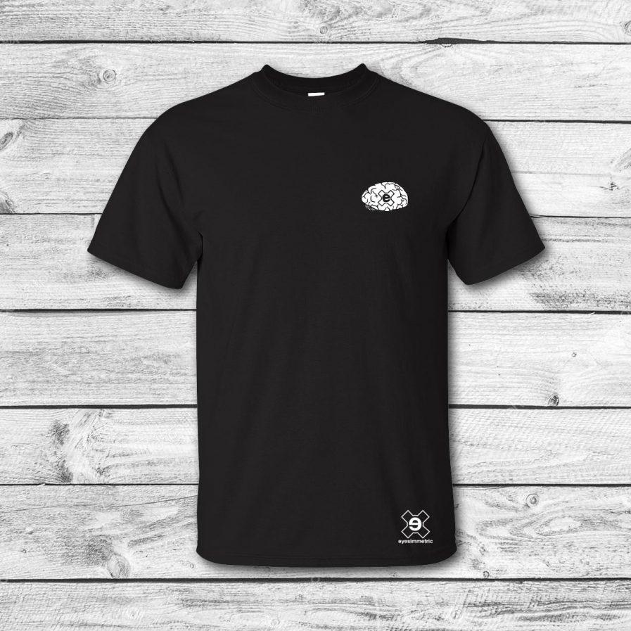 camiseta surf skate eyesimmetric Brain, negra - front