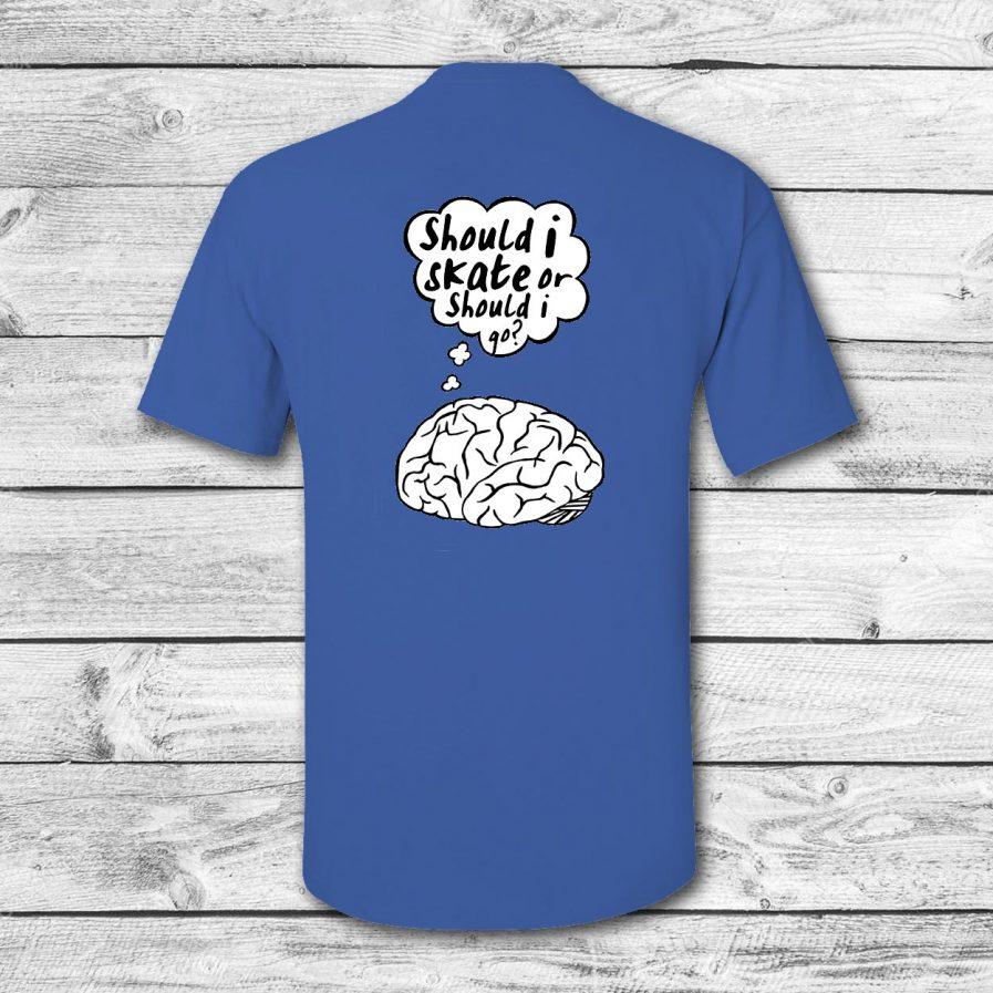 camiseta surf skate eyesimmetric Brain, azul - back