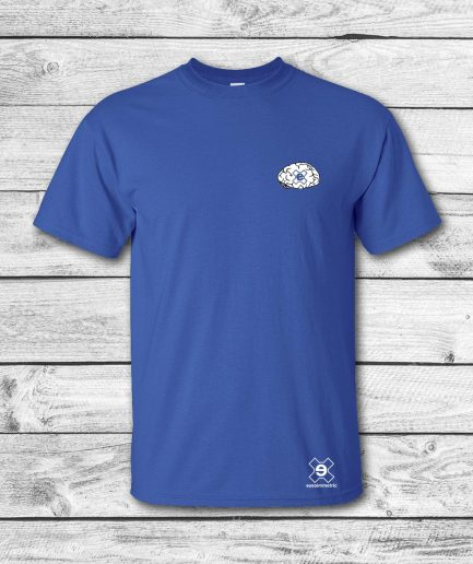 camiseta surf skate eyesimmetric Brain, azul - front