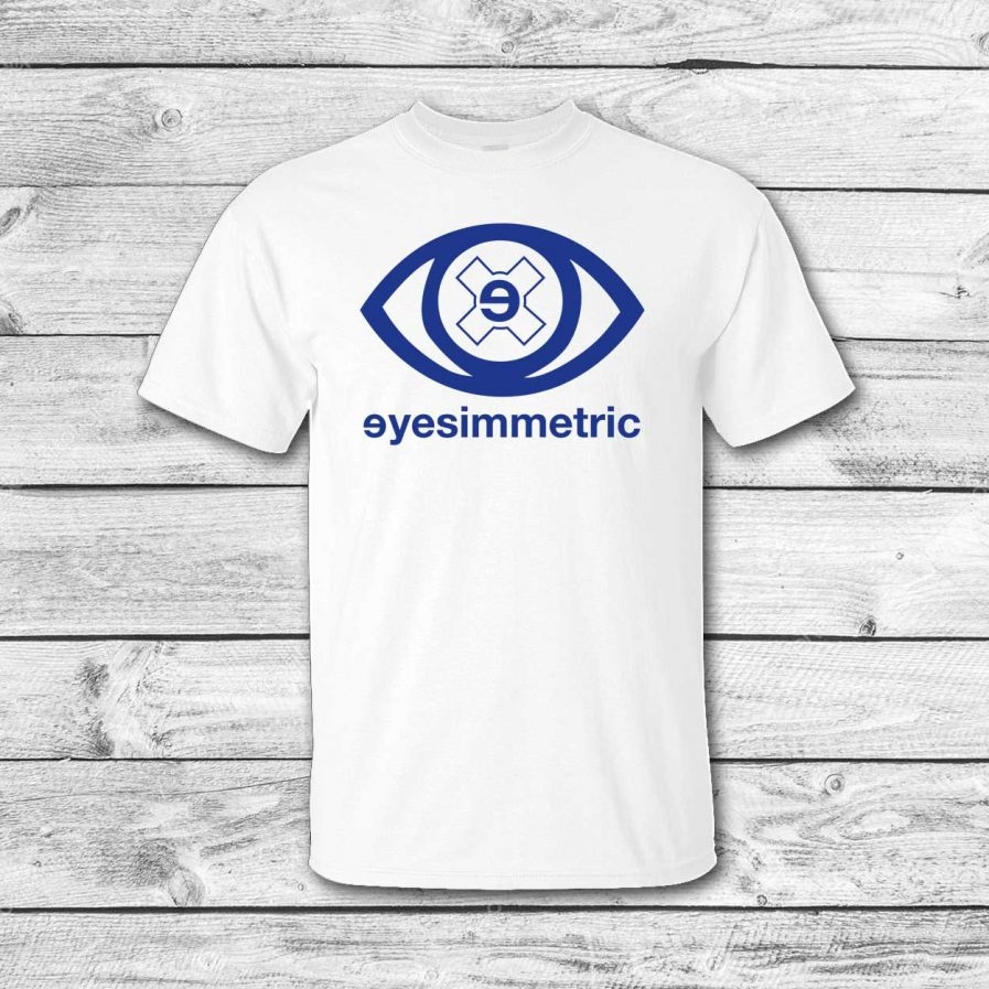 camiseta surf skate eyesimmetric logo eye, blanca