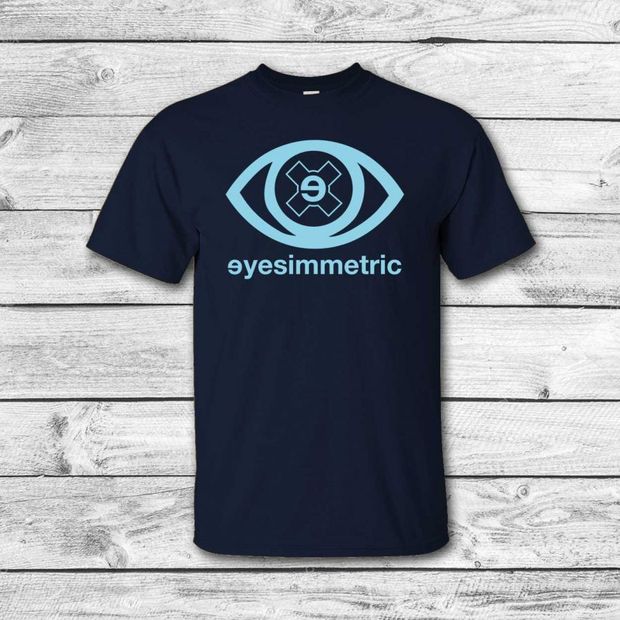 camiseta surf skate eyesimmetric logo eye, navy