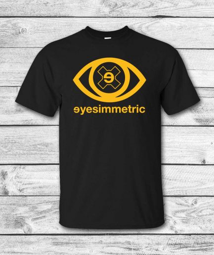 camiseta surf skate eyesimmetric logo eye, negra