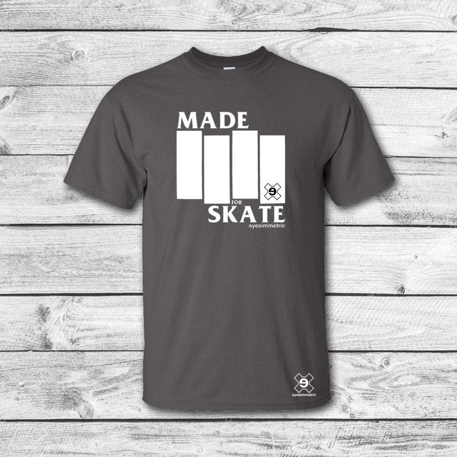 camiseta surf skate eyesimmetric MFS, gris