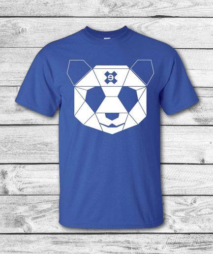 camiseta surf skate eyesimmetric logo panda, azul