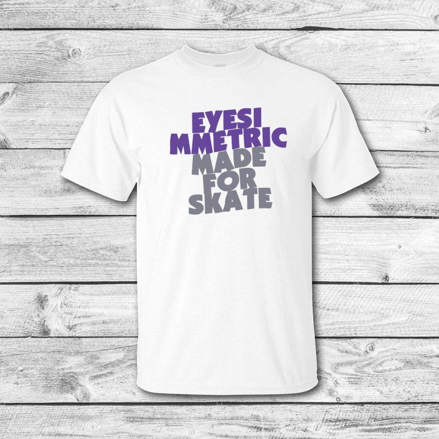 camiseta surf skate eyesimmetric sabbath, blanca