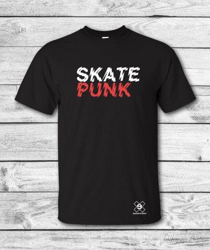 camiseta-surf-skate-skate punk-negro-front-eyesimmetric