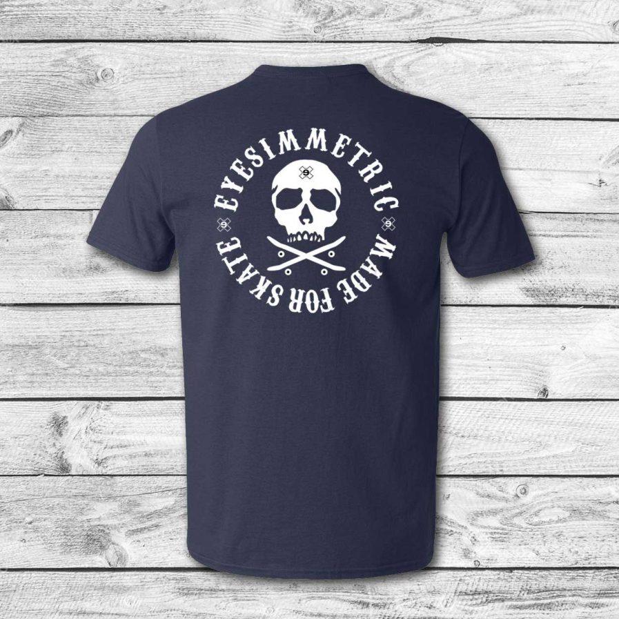 camiseta surf skate eyesimmetric logo calavera, navy - back
