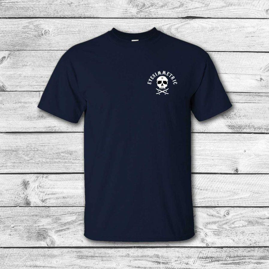 camiseta surf skate eyesimmetric logo calavera, navy - front