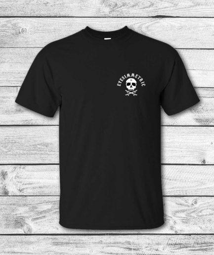 camiseta surf skate eyesimmetric logo calavera, negra - front