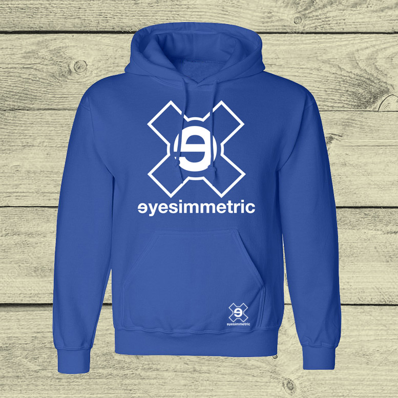 sudadera surf skate eyesimmetric logo royal