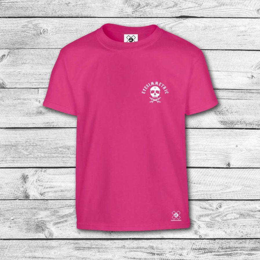 camiseta-niño-fucsia-skull-delante