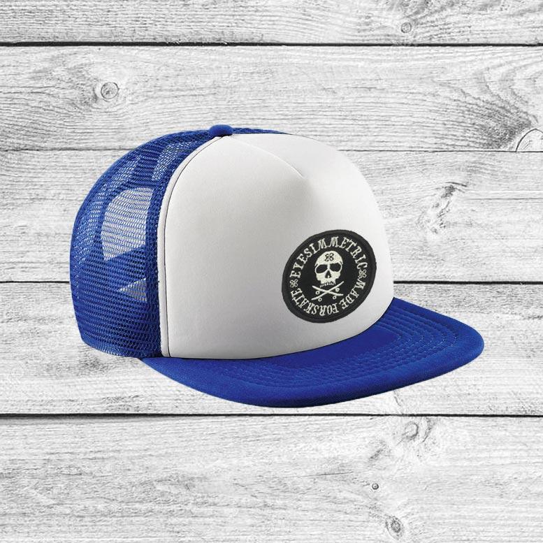 visera-eyesimmetric-skull-azul-trucker-hat
