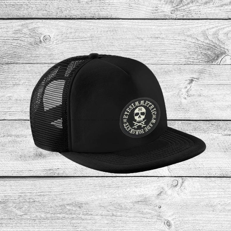 visera-eyesimmetric-skull-negra-trucker-hat