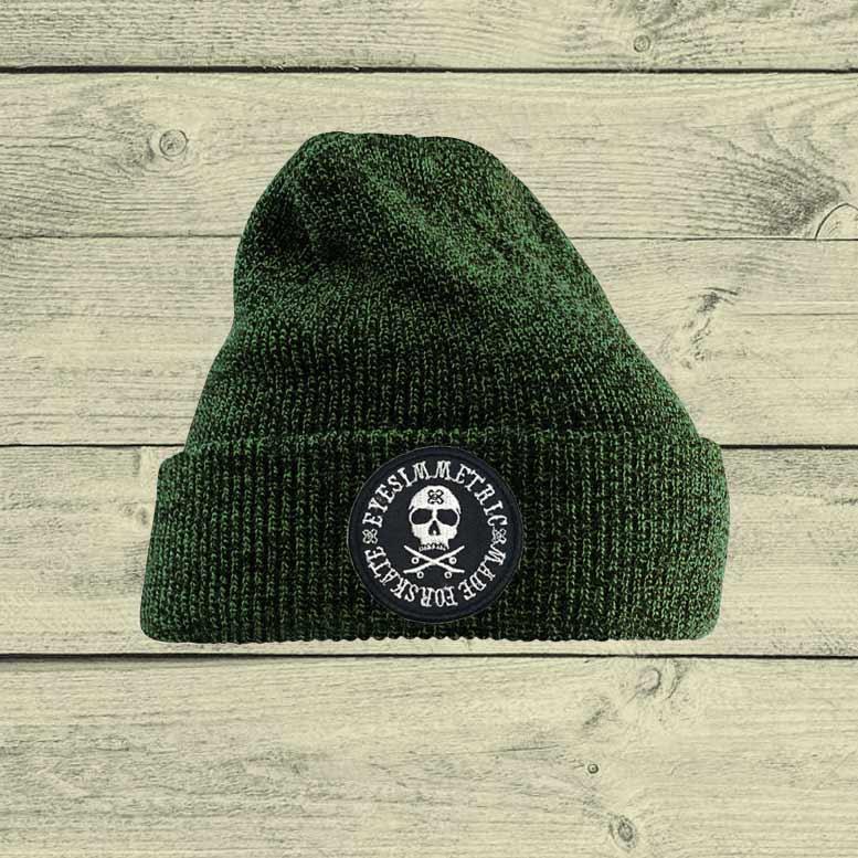 gorro-lana-eyesimmetric-skull-verde
