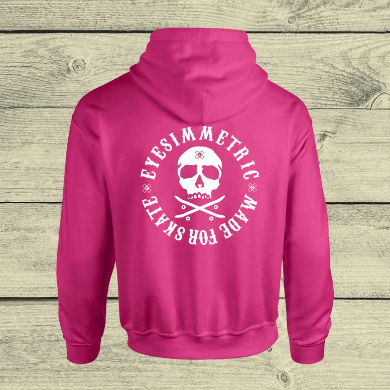 sudadera-unisex-rosa-skull-detras