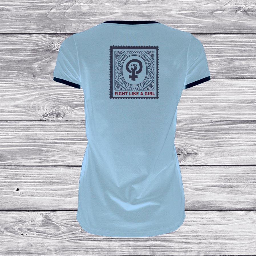 camiseta-chica-azul-fight-back-surf-skate