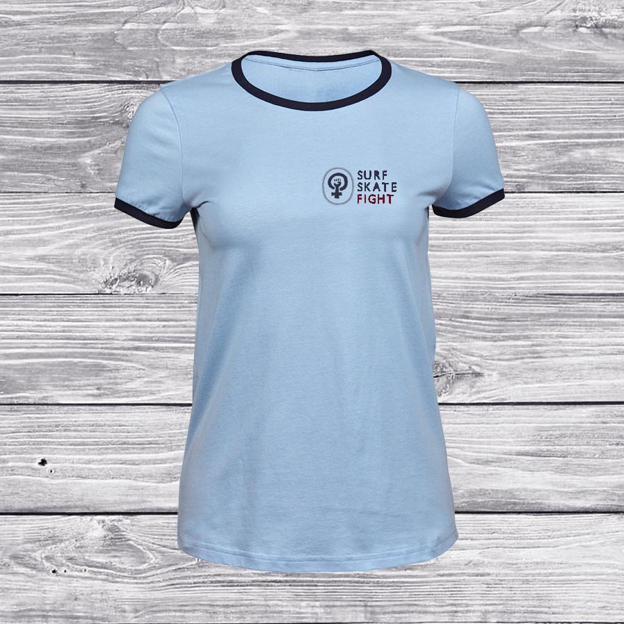 camiseta-chica-azul-fight-front-surf-skate