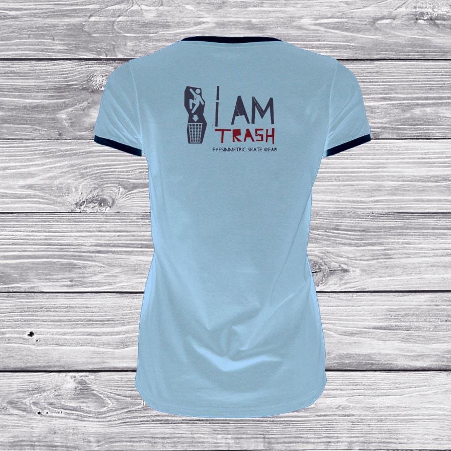 camiseta-mujer-azul-trash-surf-skate-back