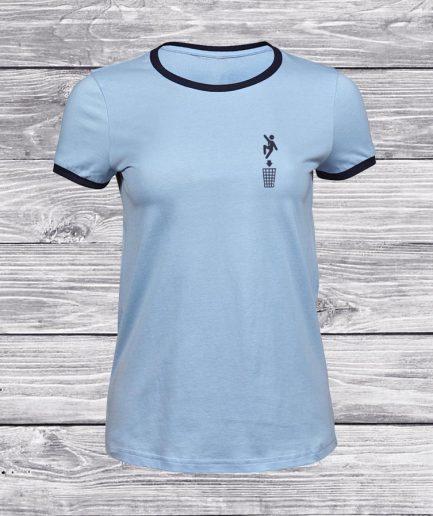 camiseta-mujer-azul-trash-surf-skate-front