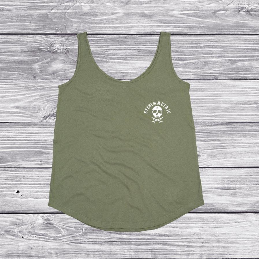camiseta-organico-salty-days-verde-eyesimmetric-front